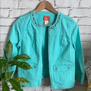 Teal Cotton Jacket